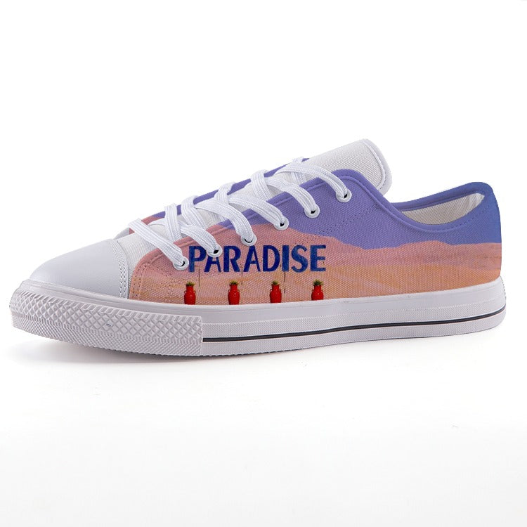 Paradise Summer Beach - Low-top fashion canvas shoes - Art Beauty Fashion