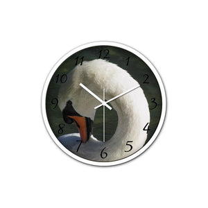 Swan - Beauty - Non-Ticking Silent Wall Clock with Modern and Nice Design for Wall Decoration (White) - Art Beauty Fashion