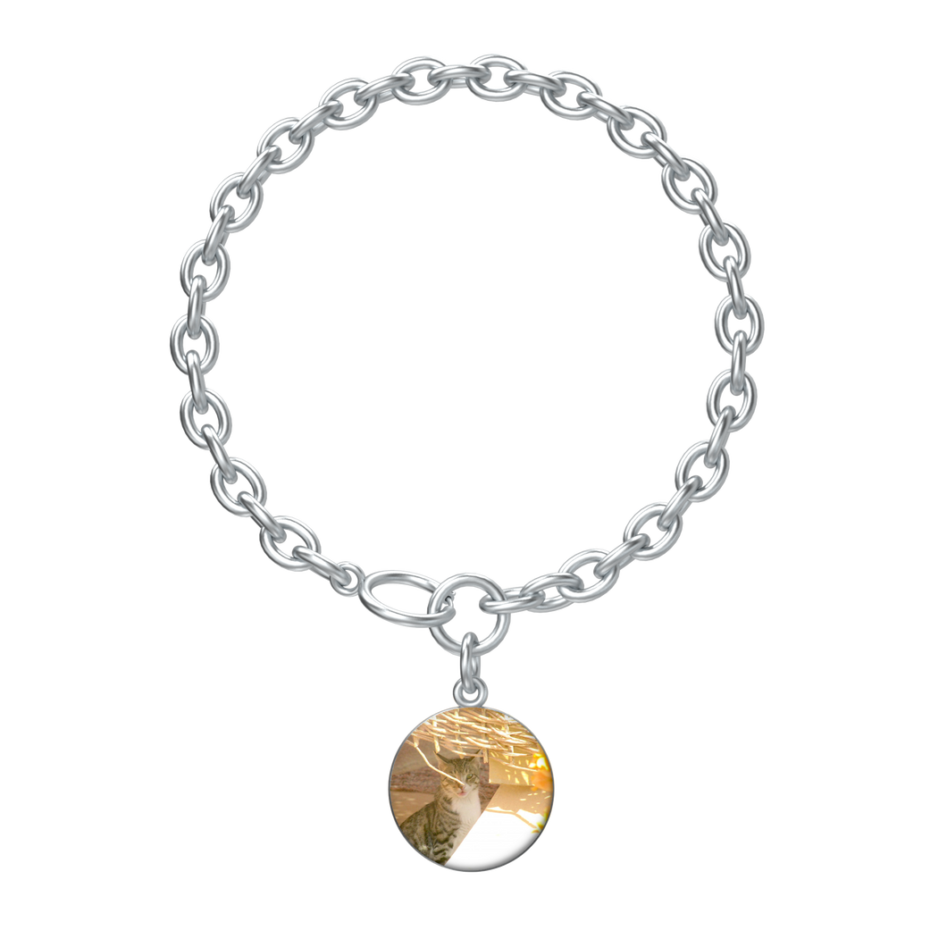 Cat Lovers Jewellery - Bracelet in Silver - Art Beauty Fashion