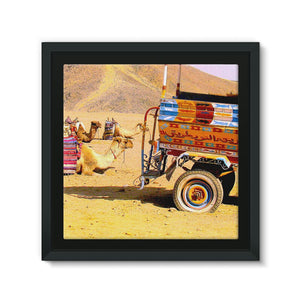 Egyptian Desert Camels Framed Canvas - Art Beauty Fashion