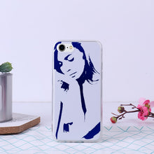 Naked woman thinking - Bumper Soft and Premium Flexible TPU Cover Case for iPhone 7 /iPhone 8 - Art Beauty Fashion