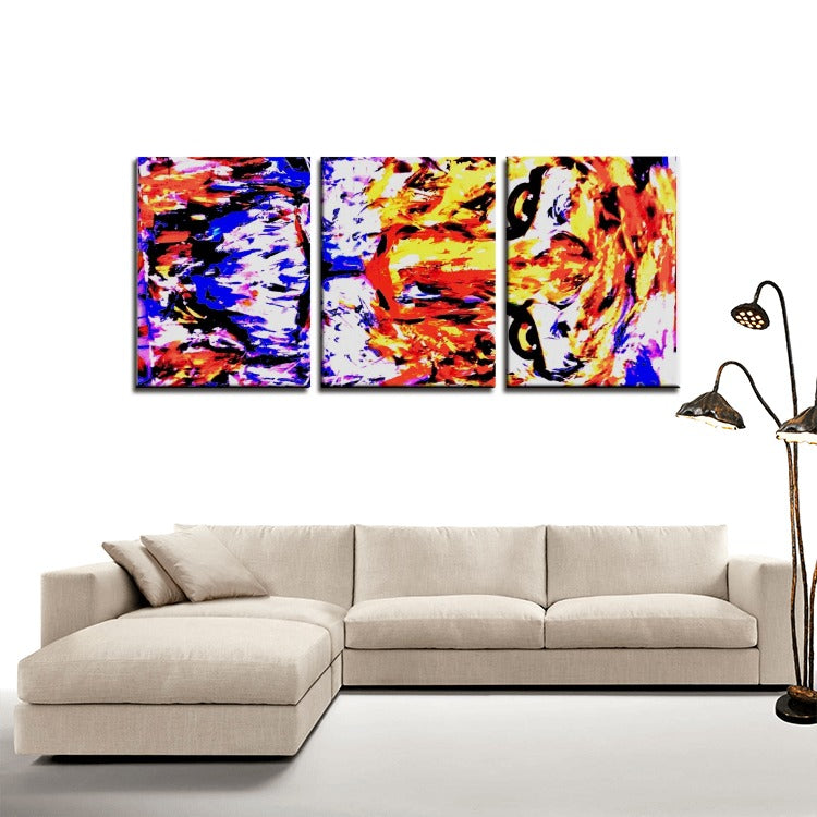 Tiger - 3 Panels Canvas Prints Wall Art for Wall Decorations - Artphotography - NEW