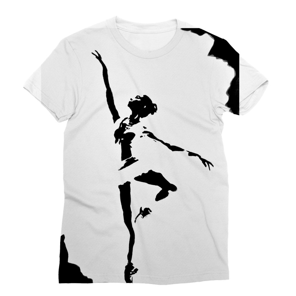Ballerina Sublimation T-Shirt - Art Beauty Fashion