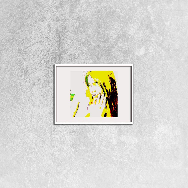 Naked woman in love - Canvas Prints Wall Art for Home Decorations Stretched White Horizontal Frame Ready to Hang, 16ⅹ12 inch - Art Beauty Fashion