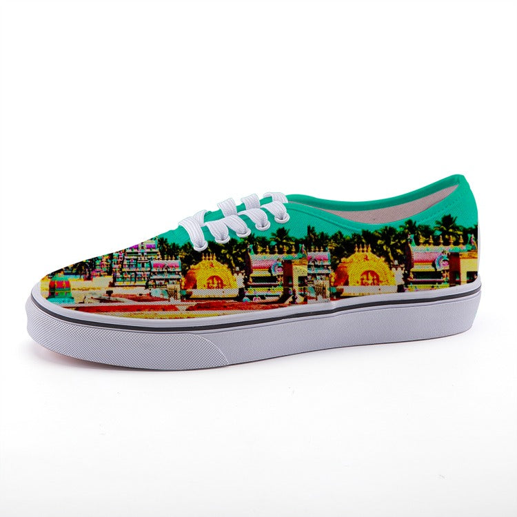 Colorful Indian - Stylish Fashion Designer canvas shoe - Perfect for the beach - Art Beauty Fashion