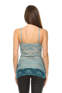 Women's Shimmer Lace Tank - Art Beauty Fashion