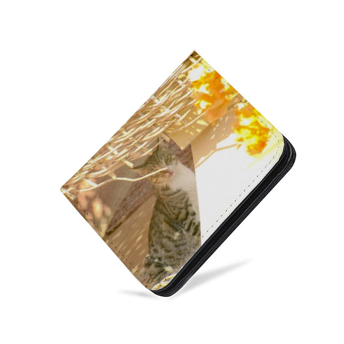 Cat - PU Leather Multi-Card Short Bifold Wallet - Art Beauty Fashion