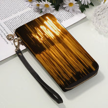 Men and Women's PU Leather Wallet around Long Clutch Purse - Art Beauty Fashion