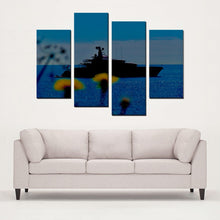 Boat Study Antibes - 4 Panels Canvas Prints Wall Art for Wall Decorations - Art Beauty Fashion