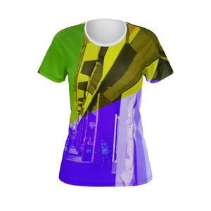 Abstract Berlin Girl Designer T-Shirt - Art Beauty Fashion