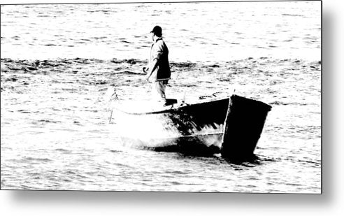 Black And White Fishermen Study - Metal Print - Art Beauty Fashion