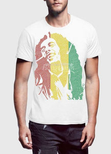 Bob Marley Mania White Half Sleeve Men T-Shirt - Art Beauty Fashion
