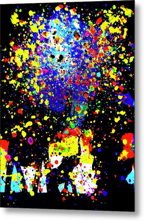 Coloured Elephants - Metal Print - Art Beauty Fashion
