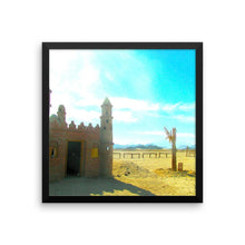 Romantic Bedouin Village - Framed photo paper poster Wall Art - Desert Study - Artphotography - NEW