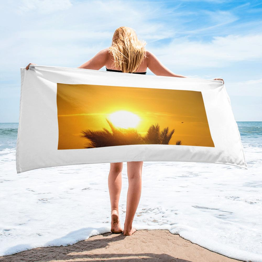 Sunset - Towel for the beach - Art Beauty Fashion