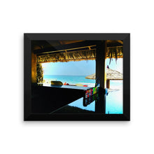 Beach Bar - Framed photo paper poster - Art Beauty Fashion