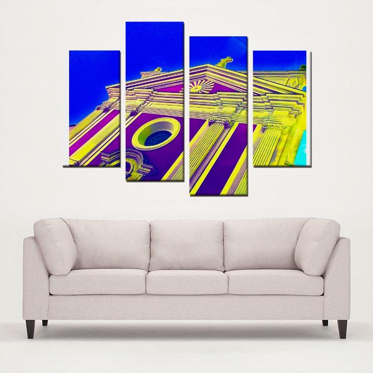 Church Style Study - 4 Panels Canvas Prints Wall Art for Wall Decorations - Art Beauty Fashion