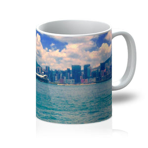 Hong Kong Mug Skyline and Sea Combined on this highly decorative mug - Art Beauty Fashion