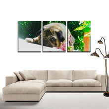 Sweet Dreaming Pug - 3 Panels Canvas - Wall Art for Wall Decorations - Art Beauty Fashion