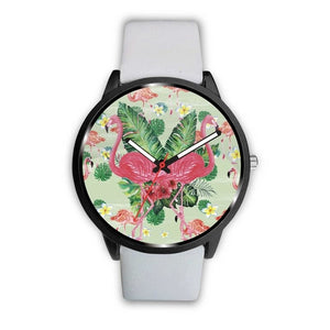Lovely Double Flamingo Customized Design Watch - Art Beauty Fashion
