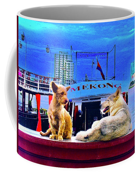 Dogs And The Mekong River - Mug - Art Beauty Fashion