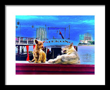 Dogs And The Mekong River - Framed Print - Art Beauty Fashion