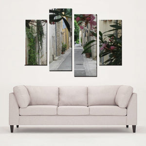 South of France Style Study - 4 Panels Canvas Prints Wall Art for Wall Decorations - Art Beauty Fashion