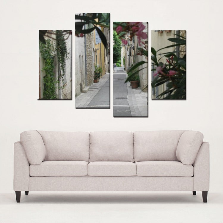 South of France Style Study - 4 Panels Canvas Prints Wall Art for Wall Decorations - Artphotography - NEW