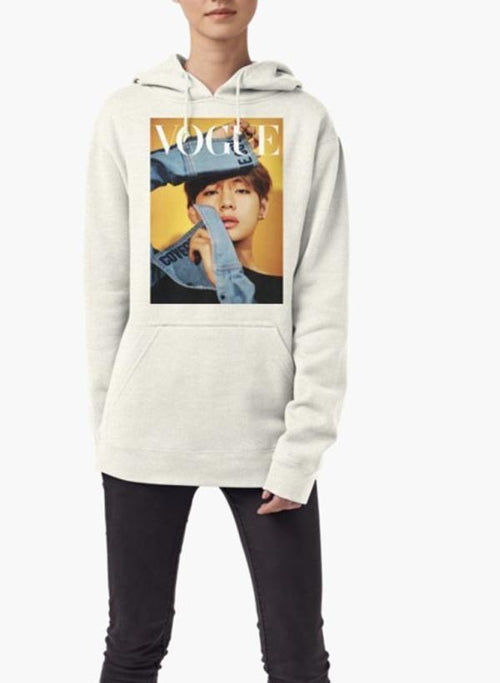 Vogue WOMEN HOODIE GRAY - Art Beauty Fashion