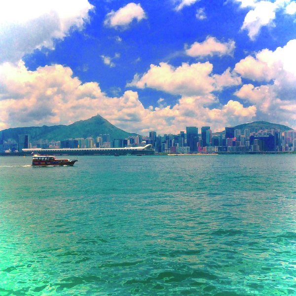 Hong Kong Style Study - Art Print - With Skyline and Sea beautifully combined - Art Beauty Fashion