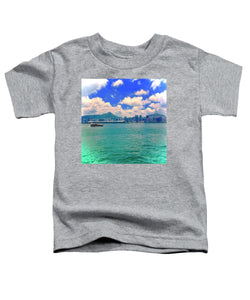 Hong Kong Style Skyline and Sea - Cool Toddler T-Shirt - Art Beauty Fashion