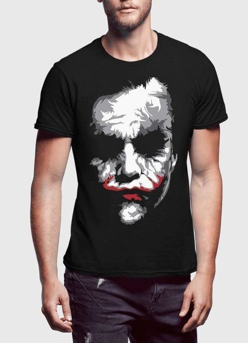 Heath Joker Half Sleeves T-shirt - Art Beauty Fashion