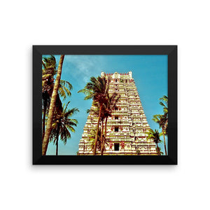Indian Temples Feel Good Study - Framed photo paper poster - Art Beauty Fashion