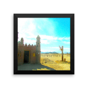 Bedouin Village - Framed photo paper poster - Art Beauty Fashion