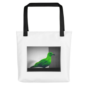 Modern Art - Green Seagull - tote bag - Art Beauty Fashion