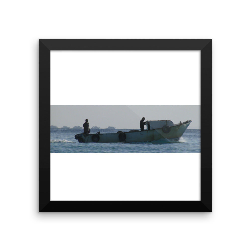 Fisherman at work - Framed photo paper poster - Unique Wall Art - Art Beauty Fashion