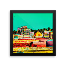 Colored Indian Temple Study - Framed photo paper poster - Art Beauty Fashion