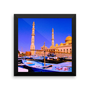 Photography with an Arab Mosque and a harbour uniquely depicting the oriental style - Art Beauty Fashion
