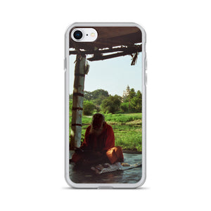 Praying Monk in the Shadows - iPhone Case - Art Beauty Fashion