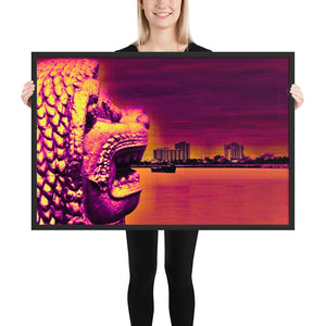 Modern Art of Cambodia - Mekong River - Framed photo paper poster - Art Beauty Fashion