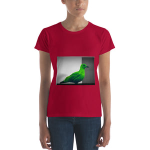 Women's Green Seagull - Modern Art short sleeve t-shirt - Art Beauty Fashion