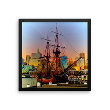 Digital Art Classic Navy Ship in Sydney - Modern Style - Framed photo paper poster - Art Beauty Fashion