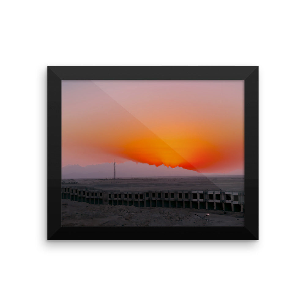 Artistic Sunset - Framed photo paper poster - Art Beauty Fashion