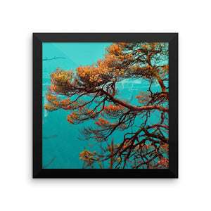 Japanese Tree Style Study - Unique Framed photo paper poster - Art Beauty Fashion