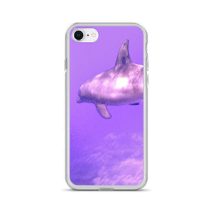 Spaced Up Dolphin Study - iPhone Case - Art Beauty Fashion