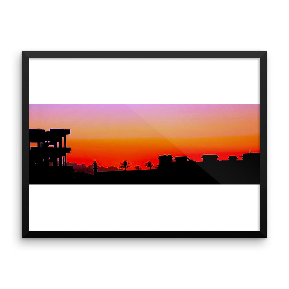Arabian Sunset - Framed photo paper poster - Art Beauty Fashion