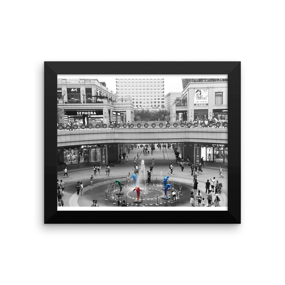 China Shopping Mall Modern Impressions - Framed Photo Paper Poster - Art Beauty Fashion