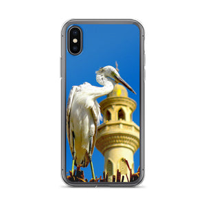 Arabian - Oriental Style - iPhone Case with a mosque and a heron - Art Beauty Fashion