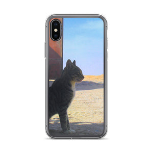 Desert Cat in Egyptian desert - iPhone Case - If you love Cats and Art you will love this iphone Case - Art Beauty Fashion