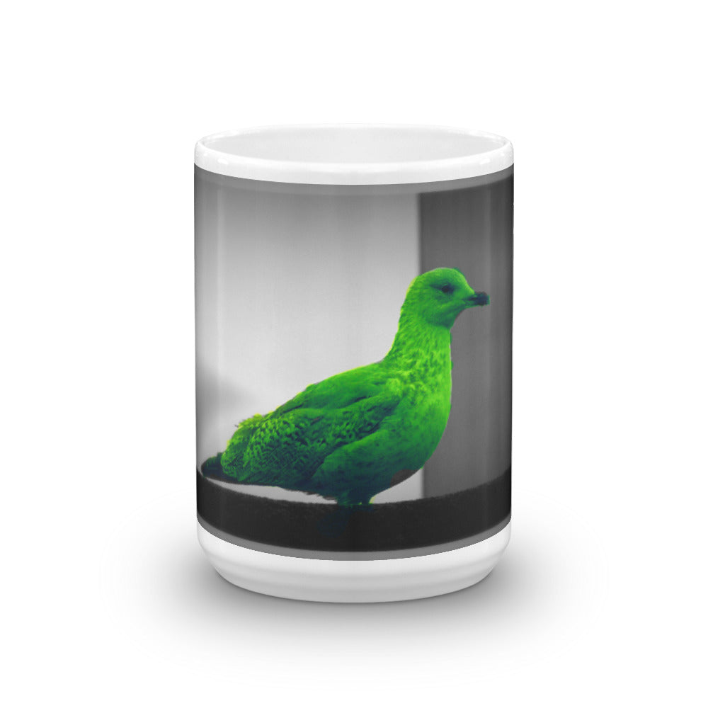 Green Seagull - Mug - Art Beauty Fashion